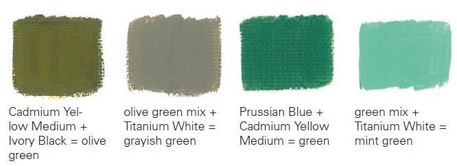 Pomiješajte zelenu i ljubičastu boju onoga što se događa