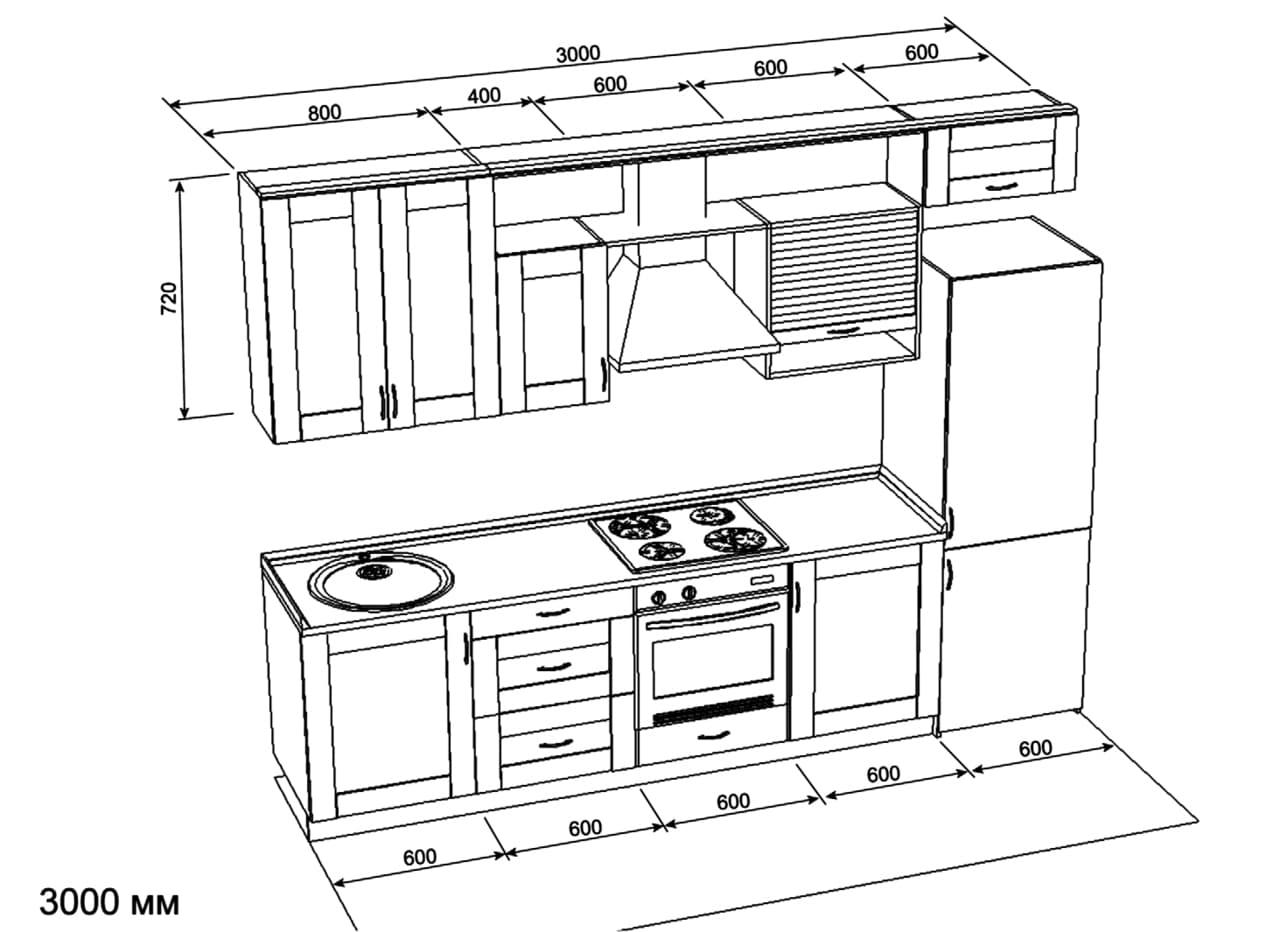 Reka Bentuk Dapur Boleh Digambarkan Di Atas Kertas