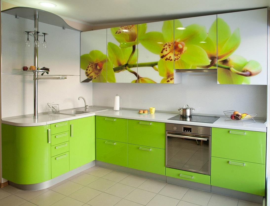 Interior Ruangan Dalam Nada Hijau Muda Hijau Muda Untuk Dapur