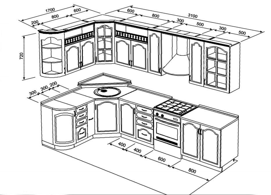 Как спроектировать кухню своими руками пошаговая инструкция 81